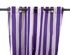 Jordan Mfg LOT OF 3 54x96 Outdoor Grommet Curtain  3VOC5496-1855Q Grape Stripe
