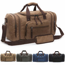 Canvas Travel Duffel Bag Large Carry On Luggage Weekender Men Gym Shoulder Bags
