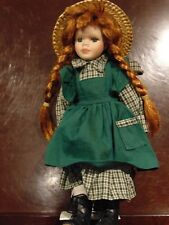 """Anne of Green Gables Porcelain 12"""" Doll w/Stand"""