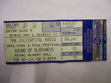 SOUNDS OF BLACKNESS Concert Ticket 2 July 1996 Royal Albert Hall London BARGAIN!