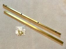 "1 Pair 14"" Solid Brass Grand Piano Music Rack/Desk Slides w/Screws"