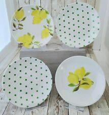 Set of 4 Kate Spade New York Lemon & Polk-a-dot Melamine Dessert Salad Plates