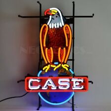 "Case Eagle American Farm Harvester Vintage Neon Sign 26""x18"""