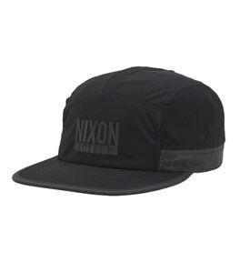 Nixon Night Runner Strapback Hat - Black