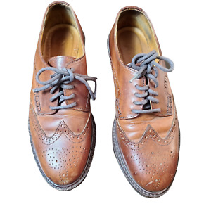 Cole Haan Country Brown Leather Lace Up Oxfords Shoes Brazil Mens 7B Style F6431