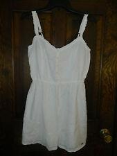 Hollister WHITE EYELET DRESS, size M NWT
