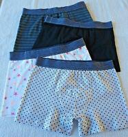 Lot 4 boxers homme lingerie caleçons sous vêtement slips taille S (36/38) neuf