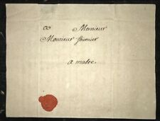 1764 Marseille France to Malta Entire Letter Cover Postal History #004631