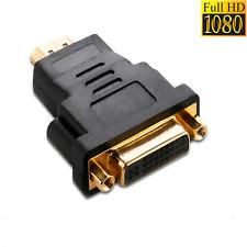 DVI zu HDMI Adapter 1080P DVI-I Buchse auf HDMI Stecker Goldene Kontakte 24 + 5