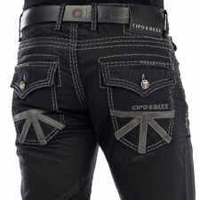 CIPO & BAXX BRISTOL MENS JEANS DENIM THICK STITCH STRAIGHT CUT TRUE SIZES