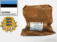 Estonia Military Ration Box. Military Ration - 24hours - (MRE) - NATO APPROVED