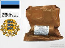 Estonia razione Militare Scatola. razione MILITARE - 24 H - (MRE) - nato Approvato