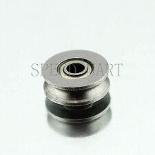 V623ZZ 623VV V Groove Guide Pulley Rail Ball Bearings Metal (3mm*12mm*4mm)
