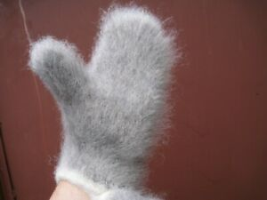 Men's MITTENS GLOVES HOMEMADE 100% lambswool yarn warm THICK soft Russian craft