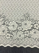Cafe Lace Curtain Beautiful -BELMONT Lace 30cm plus 60 cm Drop -White-buy per m