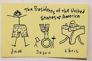 The Presidents of the United States of America Band PROMO STICKER DECAL 1990's