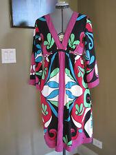 NICOLE BY NICOLE MILLER 3/4 Sleeve Multicolor Dress Size 10