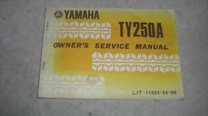 1974 Yamaha TY250A Owner's Service Manual USED