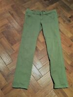 PAPAYA LADIES SIZE 10 SKINNY GREEN JEANS Detail on legs 2 pockets at front. VGC