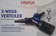 OSAGA 3-Wege-Verteiler Y-Schlauchverteiler 2 x Kugelhahn regelbar Koi Teich