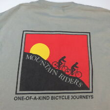 MOUNTAIN RIDERS ONE OF A KIND BICYCLE JOURNEYS Cycle Cycling Bike TEE T SHIRT M