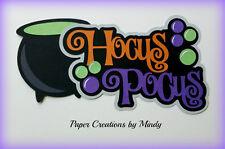CRAFTECAFE MINDY HALLOWEEN HOCUS POCUS title premade paper piecing for scrapbook