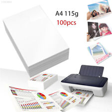 FECC 100 Sheets Waterproof A4 Glossy Photo Paper Inkjet Printers White