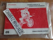 2005 HONDA CR85R / CR85RB Expert Owner's Manual & Competition Manual OEM