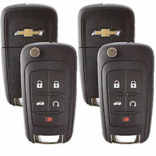 Set Of 2 Chevrolet Flip Remote Key 2010-2017 5 Buttons Chevy LOGO USA Seller A++