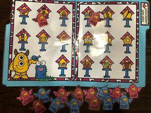 Little Birdies Long A Vowel Team ai ay Phonics File Folder Game Literacy Centers