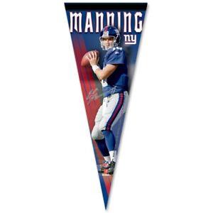 New York Giants #10 Eli Manning Wincraft NFL 12x30 Premium Pennant FREE
