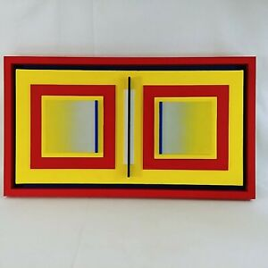 Contemporary Abstract Art 3d Wall Sculpture Construction Layered by Mike Collins