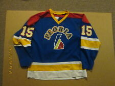 Peoria Youth Hockey #3 Cullinane Size L Athletic Sewing Game Used Hockey Jersey