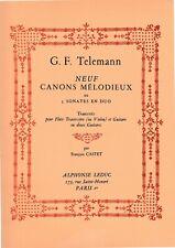 Telemann: 9 Canons Melodieux pour Flute (Violon) et Guitare ou 2 Guitares