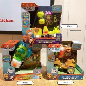 Octonauts Action Figure Toy Model 3 Characters Cat Cosmonauts PVC Figurines