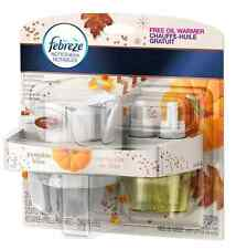 Febreze NOTICEables Dual Scented Oil Refill + Free Warmer - Pumpkin Bliss - NEW