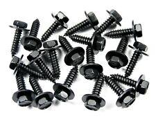 Black Hex Screws- M6.3 x 25mm Long- 10mm Hex- 17mm Washer- 20 screws- LD#168