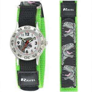 Ravel Kids Boy's Watch Dinosaur Easy Fasten Strap