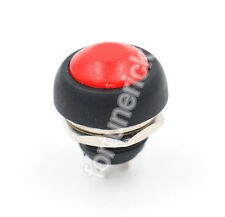 Wasserdicht Rot Push Button Einbauschalter Momentary Auto / Motorrad 5 Stück