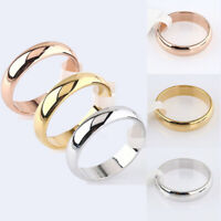6mm Women Men Band Ring Wedding Polished Stainless Steel Engagement Party Sz7-11