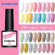 Koskoe 8ml Nail Esmalte Gel UV Soak Off Gel Nail Glitter holographics 120 Colores