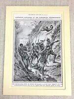 1915 WW1 Stampa The Dardanelles Campagna Australiano Soldati Anzac Infantry War