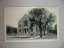 VINTAGE POSTCARD THE FIRST CHRISTIAN CHURCH IN KINGFISHER OKLAHOMA UNUSED