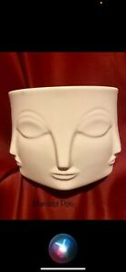 Buddha White Black Ceramic Planter Pot
