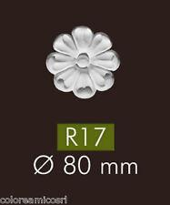 SET 4 PEZZI ROSETTE NMC ARSTYL® R17 DIAMETRO 8 CM IN POLIURETANO ALTA DENSITA'