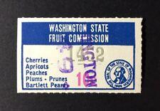 Washington State Revenue - 10 cents Fruit Advertising #FR16 used - sound - WA