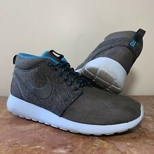 Nike Roshe Run One Mid Winter Sneakerboot Shoes Mens Black Loden 615601 003 9