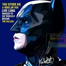 Batman canvas canvas quotes wall decals photo painting framed pop art poster
