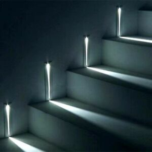 Led Stair Light Lamp Corner Wall Lights Stairs Step Stairway Hallway Staircase
