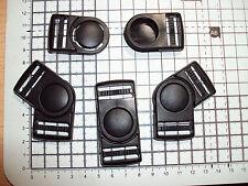 "PLASTICA ROTANTE (90 °) le fibbie per CINGHIA BAGS cinghie clip 25mm x 4pz ""bd-o"""